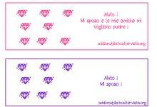 Biglietti di auguri con diamanti