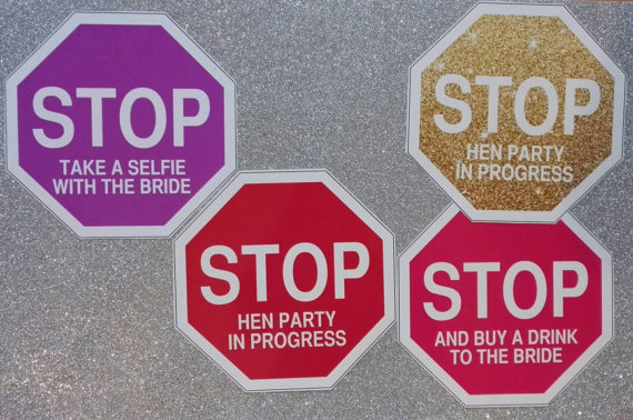 Stop signs! Hen Party Photo booth Props