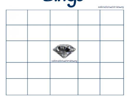 Bingo schema in bianco