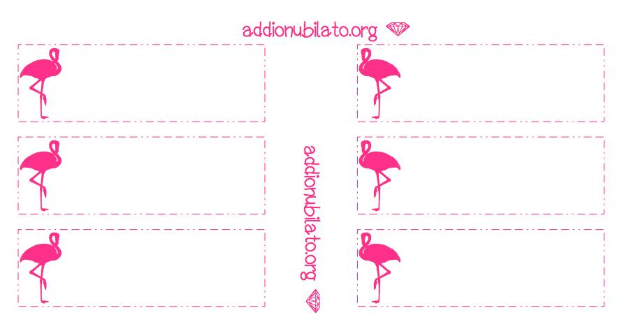 Printable Pink Flamingo Straw Decorations