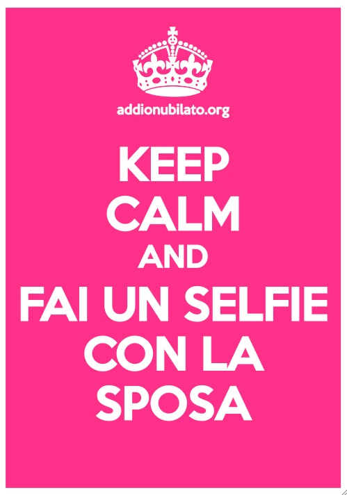 Keep Calm per addio al nubilato