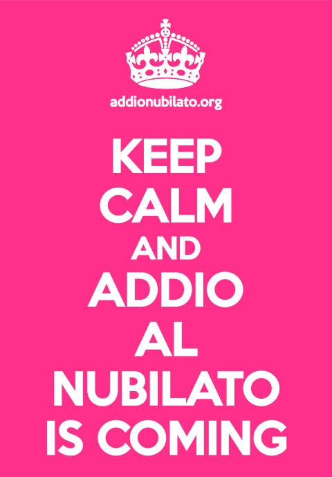 Keep calm per addio la nubilato